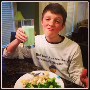 Cheers to green milk!